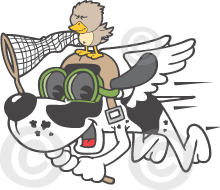 Cartoon Bird Dog Clip Art